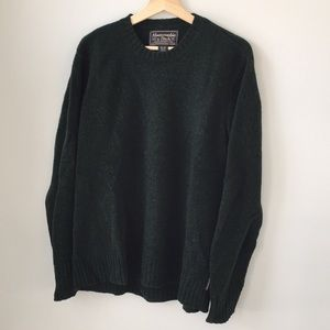 Abercrombie & Fitch Men's Hunter Green Sweater